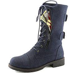 Women's Military Up Buckle Combat Boots Mid Knee High Exclusive Credit Card Pocket, Denim, 5 DailyShoes http://www.amazon.com/dp/B013XIVX1K/ref=cm_sw_r_pi_dp_x3-4wb0ZSNNAZ