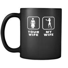 [product_style]-Boxing - Your wife My wife - 11oz Black Mug-Teelime