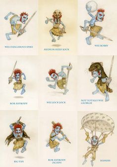 Artist Paul Kidby -The Wee Free Men. Sir Terry Pratchett Discworld