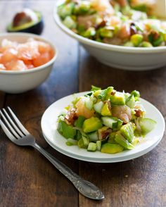Avocado Cucumber Grapefruit Salad