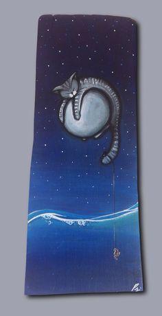 Gatto su luna