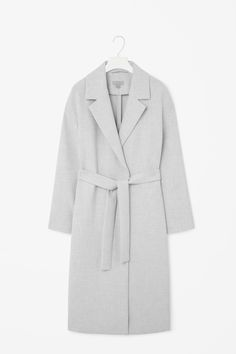 Long belted coat from COS. Saved to Wear. Shop more products from COS on Wanelo. Coats For Women, Jackets For Women, Clothes For Women, Grey Clothes, Fashion Now, Fashion Outfits, Fashion Clothes, Cute Coats, Modern Wardrobe