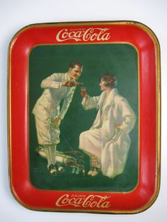 CocaCola genuine 1926 tin lithograph serving tray 8.5 condition by Schoolhouseantiques, $700.00