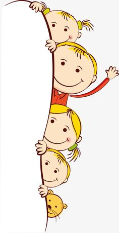 Cute kids, Obscured Child, Child, Hand-painted Children PNG Image