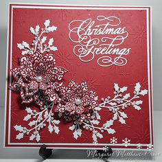 dutchess: Sue Wilson Dies: festive collection, Filigree poinsettia, holly spray holly accessory kit, tattered lace sentiment