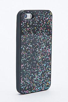 Coque noire à paillettes disco pour iPhone 5 #UrbanOutfitters #Price:€17