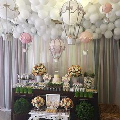 ideas for unique baby shower themes for boys 19 Deco Baby Shower, Baby Shower Balloons, Birthday Balloons, Girl Shower, Shower Party, Baby Shower Parties, Baby Showers, Birthday Party Decorations, Birthday Parties
