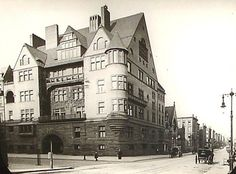 Louis Comfort Tiffany Mansion (above) circa 1886 at the corner of 72nd Street and Madison Avenue designed by McKim, Mead & White.