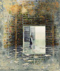 Realismo mágico en las pinturas Eric Roux-Fontaine