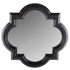 "LARGE 30"" Black Quatrefoil Styrene Mirror Home Wall Decor-$69.99"