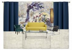Mid-Century Modern_Casart by casart. Create your own interior design moodboard now! Get In The Mood, Bedroom Colors, Mid-century Modern, Mid Century, Interior Design, Wallpaper, Design Boards, Mood Boards, Organization