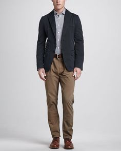 Lewis Cotton Blazer, John Sport Shirt & Five-Pocket Cotton Pants by Billy Reid at Neiman Marcus.