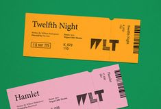 Wigan Little Theatre by Alphabet #print #graphic design #tickets in Printed Materials