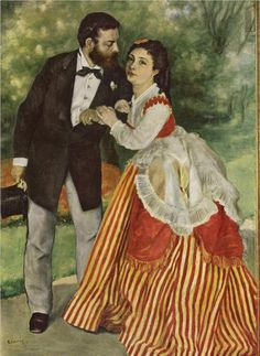 Pierre-Auguste Renoir (French 1841–1919) Portrait of the couple Sisley, 1868.