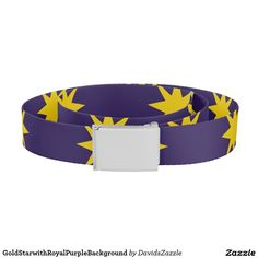 Gold Star with Royal Purple Background Belt This design is available on many products! Hit the 'available on' tab near the product description to see them all! Thanks for looking!     @zazzle #art #star #pattern #shop #chic #modern #style #circle #round #fun #neat #cool #buy #sale #shopping #men #women #sweet #awesome #look #accent #fashion #clothes #apparel #earrings #headband #sunglasses #ties #belts #fingernail #black #blue #purple #orange #grey #gold