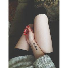 Tatuaże: napisy, fot. pinterest
