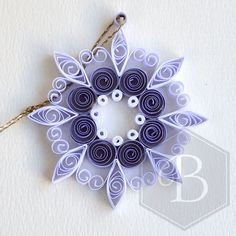 Quilled circle snowflake, Christmas ornament, Christmas decoration, Window decoration, Paper quilling decoration, Holiday ornament