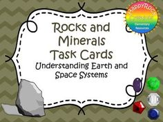 Rocks and Minerals Task Cards Teacher Pay Teachers, Teacher Resources, Teaching Science, Teaching Ideas, Space Systems, Text Features, Book Study, Earth From Space, Primary Classroom
