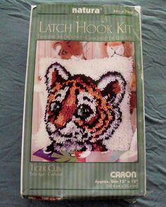 "Natura TIGER CUB Latch Hook Kit #P460 12""x12"" #Natura #latchhook"