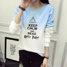 Lighting Glasses Gradient Sweatshirt (3 types)  //Price: $32.97 & FREE Shipping //     #hermionegranger #dumbledore #malfoy #jamespotter #voldemort