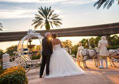A sunset kiss outside Disney's Wedding Pavilion. Photo: Ali, Disney Fine Art Photography