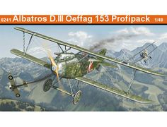 The Eduard Albatros D.III Oeffag 153 in 1/48 scale from the plastic aircraft model range accurately recreates the real life Austro-Hungarian varient of the German biplane fighter aircraft flown during World War I. This plastic aircraft kit requires paint and glue to complete.