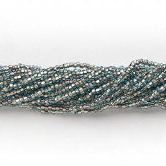 Hank Seed Bead Jablonex Ornela Preciosa Czech Glass Size 11 - transparent light blue copper-lined on Etsy, $3.09
