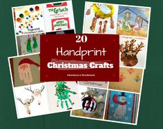 20 Handprint Christmas crafts.  Make a memorable keepsake with the kids