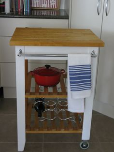 Ikea Butchers Trolley Makeover - I bought this butchers trolley second hand and decided it needed a makeover. The whole thing was orange pine all over. I set to…