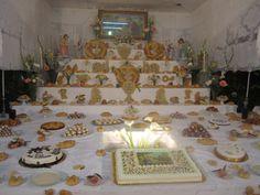 Altare di San Giuseppe, Poggioreale St Joseph, Wonderful Things, Sicily, Italian Recipes, Memories, Holiday Decor, Saint Joseph, Memoirs, Souvenirs