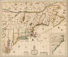A New Map of New England New York New Jersey Pennsylvania