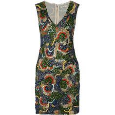Alice + Olivia Alaina embellished mesh mini dress (1.650 BRL) ❤ liked on Polyvore featuring dresses, green, beaded dress, green mini dress, slimming cocktail dresses, sequin dress and short beaded dress