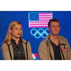 Figure skaters Gracie Gold and Jeremy Abbott at this morning's press conference. @USOlympics #MediaSummit