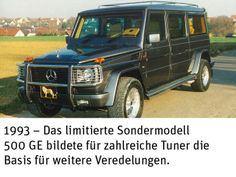 Mercedes G Historie: Mercedes-Exoten aus 35 Jahren (Bildergalerie, Bild 70) - 4WHEELFUN