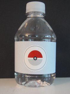 Pokemon Water Bottle Labels