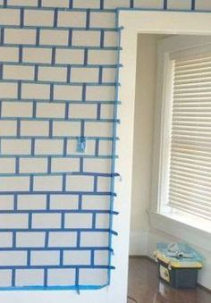 This simple look delivers major impact—in just a few steps Painting Walls Tips, House Painting, Brick Wall Decor, Brick Archway, Fake Stone, Faux Brick Walls, Home Upgrades, Exposed Brick, Home Repair