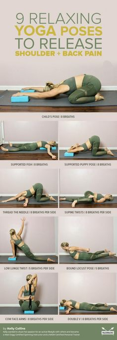 Fix rounded shoulders and back pain with these gentle, simple yoga poses. Do you get that & & get The post Fix rounded shoulders and back pain with these gentle, simple yoga poses. Yoga Fitness, Fitness Workouts, Fitness Tips, Health Fitness, Health Diet, Physical Fitness, Fitness Band, Health Yoga, Kidney Health