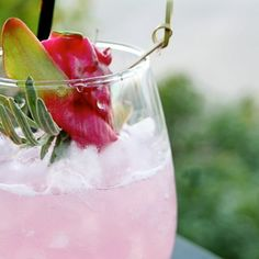 Say aloha to happy hour with @Four Seasons Resort Hualalai ULU Ocean Grill's Dragonfruit-Lavender cocktail! Muddle ½ dragonfruit with ¾ oz fresh lime juice and ¾ oz lavender syrup. Add 2 oz Old Lahaina Rum and ice, shake and double strain over ice.
