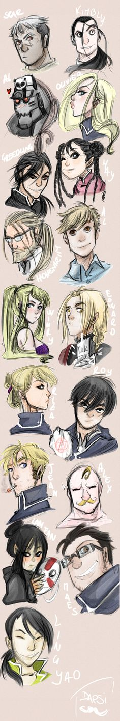 Sketchdump 4: Full metal alchemist by AlexielApril.deviantart.com on @deviantART