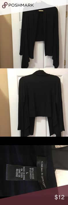 Jacket High, low knit jacket. Like new. A great cover up for casual or dressy. Black. Cable & Gauge Jackets & Coats