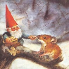 Gnomes are full of kindness and share their food with others. Artist- Rien Poortvliet