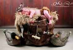 Newborn. Hunting Theme Newborn