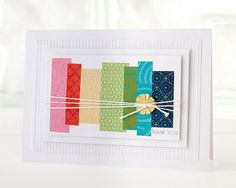 Don't know what to do with paper scraps? Simply create a collage arranged in rainbow order for a fun, trendy card. #CTMH