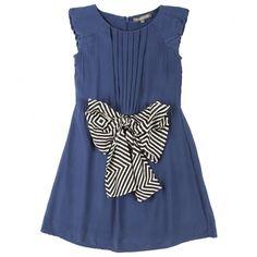 Satin silk dress with bow belt