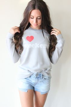 Chaser I Heart Weekends Long Sleeve