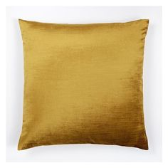 """West Elm Luster Velvet Pillow Cover, 20""""x20"""", Velvet Gold ($29) ❤ liked on Polyvore featuring home, home decor, throw pillows, gold home accessories, west elm, gold throw pillows, velvet throw pillows and textured throw pillows"""