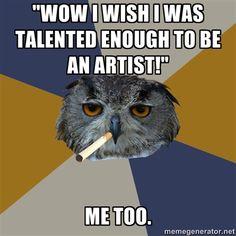 Art Student Owl @Abigail Katherine Rose