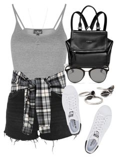 """""""Style #9982"""" by vany-alvarado ❤ liked on Polyvore featuring Topshop, Givenchy, adidas Originals, Christian Dior, Forever 21 and FOSSIL"""