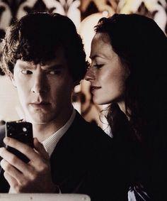 Sherlock and Iren Adler Sherlock Doctor Who, Sherlock 3, Sherlock Holmes, Lara Pulver, Irene Adler, Vatican Cameos, Benedict Cumberbatch Sherlock, 221b Baker Street, Tv Shows