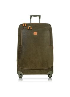 Bric's Life Olive Green Micro Suede X-Large Trolley